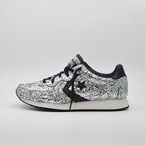 Converse Auckland Racer Ox Glitter - 555086c silver/black/snow white - (38, silver/black/snow white)