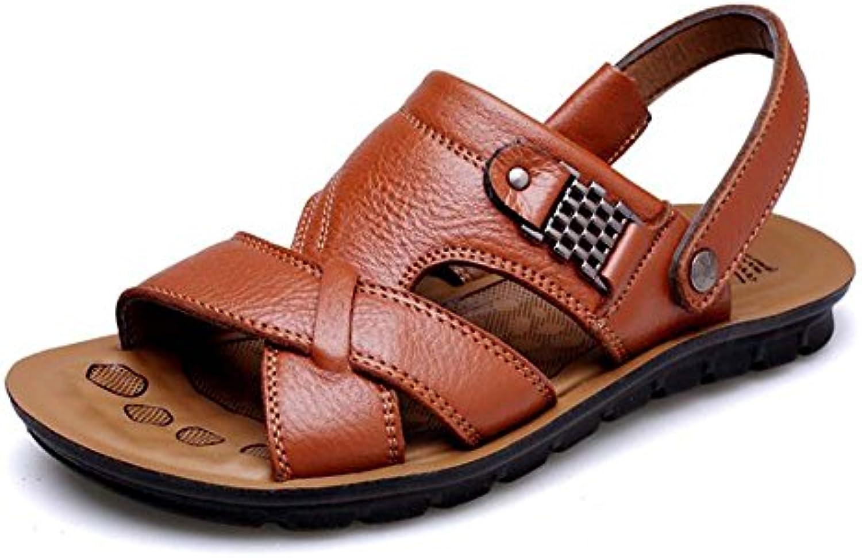 GLSHI Sandalias para Hombres Sandalias Antideslizantes Transpirables Sandalias y Zapatillas de Playa Ocasionales