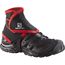 SALOMON High Gaiters for Hiking/Running, Ankle Protection, Trail Gaiters High, Black, L, L38002100