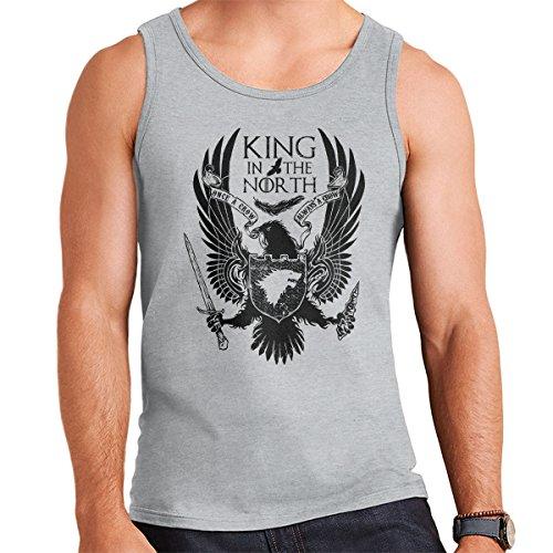 Game Of Thrones King In The North Men's Vest Heather Grey