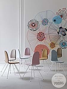 FEUX D'ARTIFICE FLORAL Sticker Mural Satinée Décoration Maison 180 x 180 cm | PIXERS