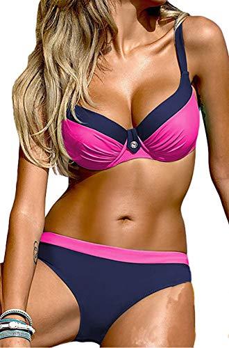 INFILAR Damen Bikini-Set Gr. M, rosarot - 3