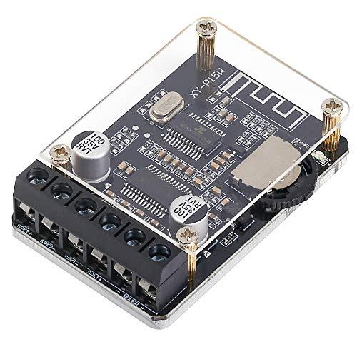 PEMENOL Bluetooth Leistung Verstärkerplatine Stereo, 10W 15W 20W Wireless Digital Audio-Verstärkerplatine, 12V 24V Doppelkanal Hochleistungs-Bluetooth-Verstärker-Empfangsmodul mit Schutzhülle für DIY 12 Digital-audio