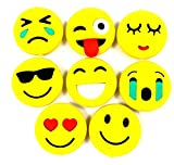 #8: Evisha Smiley/Emoji Erasers for school going kids/birthday return gift set of 8 erasers