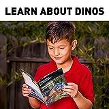 Arena de Juego de Dinosaurio Natural de 900 Gramos de Arena, 6 moldes, 6 Figuras y Bandeja de Actividad