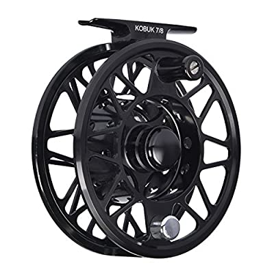 KastKing Kobuk Fly Fishing Reel with Large Arbor, CNC machined T6061 Aluminum Alloy Body and Spool in Fly Reel Sizes 3/4, 5/6, 7/8, 9/10 – Light Weight yet Incredibly Strong by Eposeidon