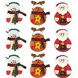 TUPARKA 9 stücke Weihnachten Besteckhalter Küchenmesser Gabel Nette Dekoration Weihnachten Urlaub Party Abendessen Dekoration 3 Stile