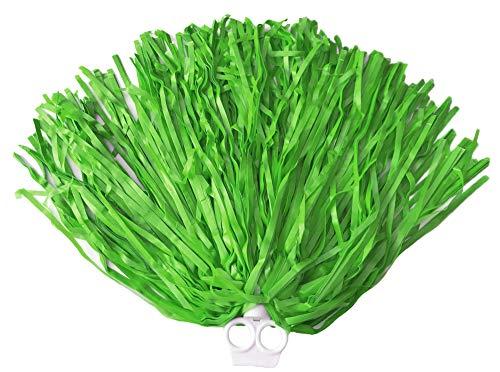 Kostüm Knappen Cheerleader - Cheerleader Pompon mit Ringgriff 1 Stück - Grün