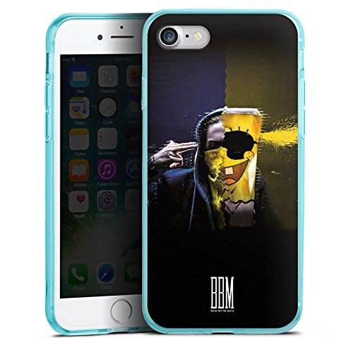 Apple iPhone 8 Silikon Hülle Case Schutzhülle Spongebozz Fanartikel Merchandise Sun Diego Silikon Colour Case eisblau