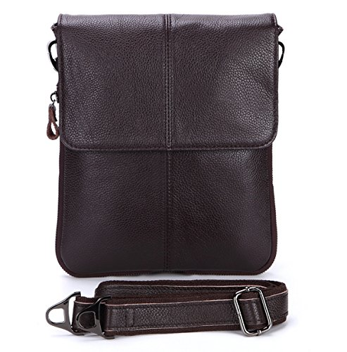 Männer Retro-Multi Dauerhaftes Weiches Business Casual Aktentasche Flach Crossover-Bag Multicolor Brown2