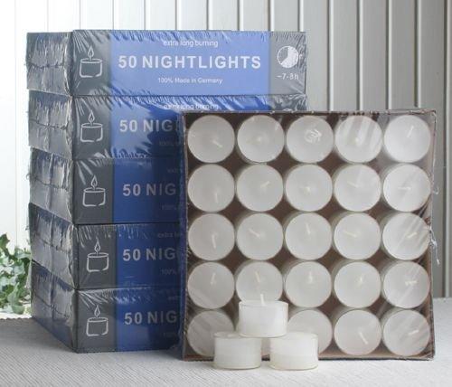 CC-Gastropack 300 Teelichter-Nightlights, transp. Hülle, 7-8 Std