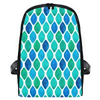 LUPINZ Travel Backpack for Kids Abstract Cyan Diamond Pattern Backpack Classic Ultralight