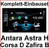 Komplett Set Opel Astra H Corsa D Zafira B Kenwood DDX-317BT Bluetooth CD USB, Farbe der Radioblende:Silber (Matt-Chrom)