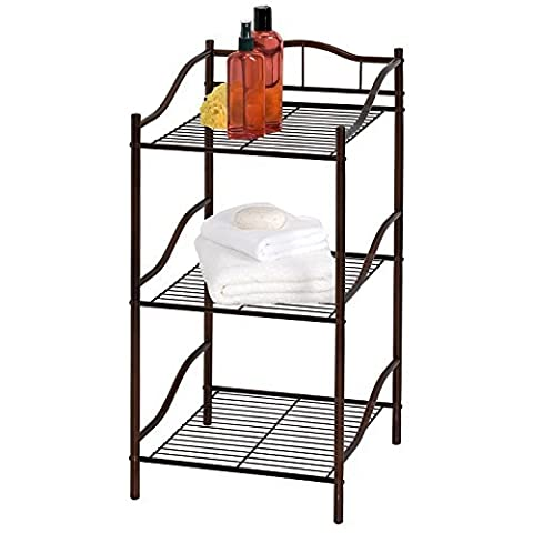Creative Bath Products Complete Collection 3 Shelf Storage Tower, Oil Rubbed Bronze by Creative Bath