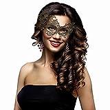 EAHUHO Venezianische Maske für Ball Maskerade Spitze Frauen Filigrane Stereotyp Maske - Maskerade Ball Masken für Männer - 4 Pack Venezianische Gold Silber und Lila Spitze