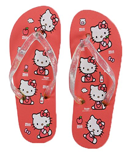 Hello Kitty Flip Flops Tongs Sandales de Plage Pour Enfants - Rouge