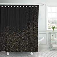Presock Cortinas De Ducha, Shower Curtain 60 x 72 Inches Yellow Black Amber Particles Color