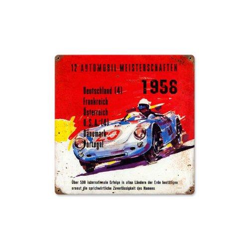 Meisterschaften Vintage Metall Schild Automotive Racing 12x 12Stahl Nicht Dose -