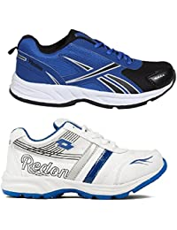 Redon Men's Pack Of 2 Sports Running Shoes (Running Shoes, Jogging Shoes, Gym Shoes, Walking Shoes) - B074HHBGMM