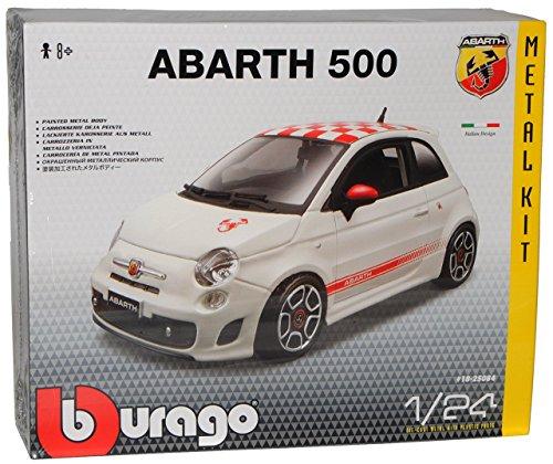 Fiat 500 Nuova Abarth Weiss kariertes Dach Coupe 2007-2015 Bausatz Kit 1/24...