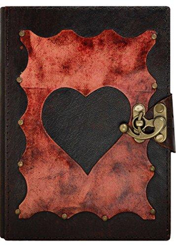 slot-decorazione-cuore-rosso-foto-marrone-annata-diario-in-pelle-fatto-a-mano-leather-taccuino-sketc