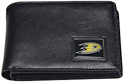NHL Anaheim Ducks Men's Leather RFiD Safe Travel Wallet, 4.25 x 3.25