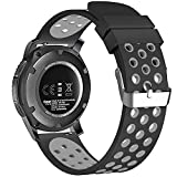 BarRan Gear Sport 2017 Bracelet, en silicone doux respirant Sport Band étanche Alternative Bracelet de montre bracelet pour Samsung Gear 2 Classic/Ticwatch 2 /Moto 360 For Men 2nd Gen 42mm and other 20mm Universal Smart Watch Bracelets