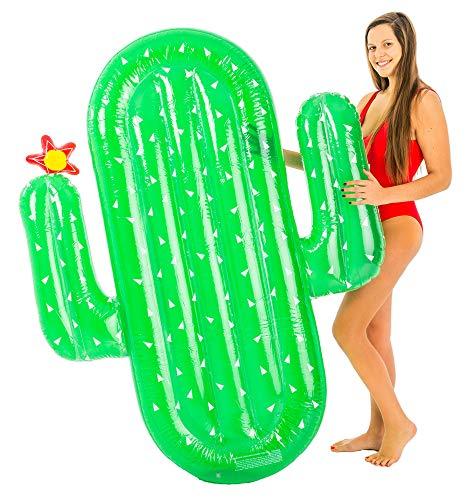 Kaktus XL Luftmatratze 185 x 132 cm - Spaßige Schwimmliege für Pool Urlaub Strand Meer
