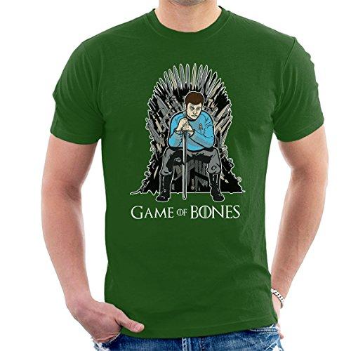 Game Of Thrones Star Trek Bones Men's T-Shirt Bottle Green
