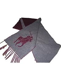 Ralph Lauren Wool Scarf Mens Grey/Maroon