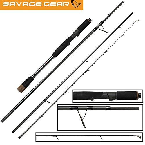 Savage Gear Roadrunner XLNT3 2,43m 20-80g - Spinnrute zum Spinnfischen auf Hechte & Zander, Reiserute zum Hechtangeln, Angelrute