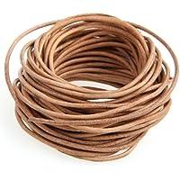 Ecloud Shop Cordón Cuero Marrón para Collar Pulsera Abalorios Bisutería