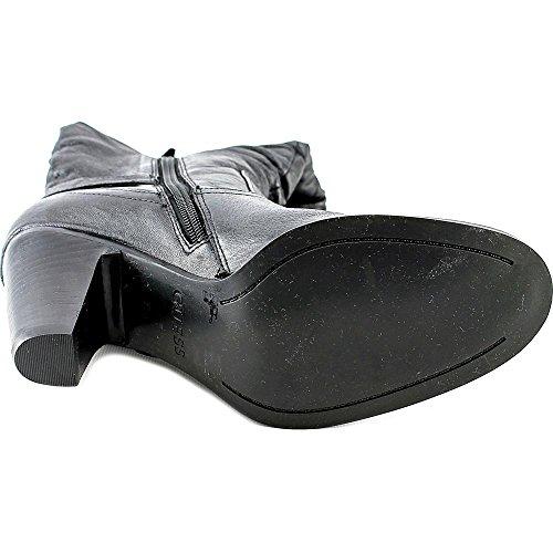 Guess Mallay Rund Leder Mode Mitte Calf Stiefel Black