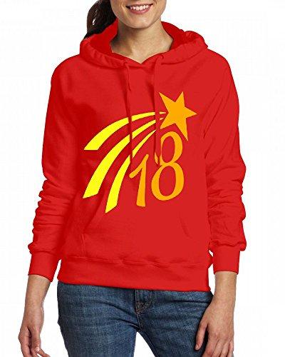 Custom Womens Hooded - Design 18 star 2c Hoodies Red