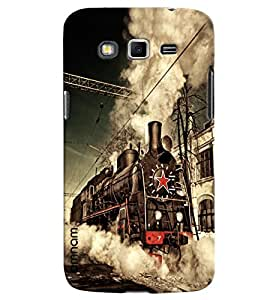 Omnam Steam Engine Train Printed Designer Back Cover Case For Samsung Galaxy Grand 2