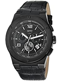 ESPRIT Collection Herren-Armbanduhr Chronograph Quarz Leder EL101811F04