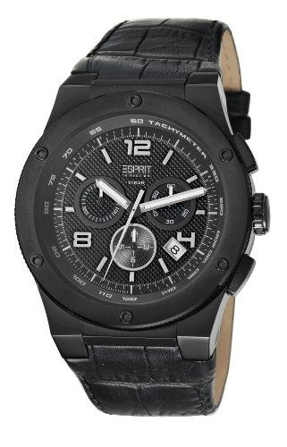 ESPRIT Collection Herren-Armbanduhr Chronograph Quarz Leder EL101811F04