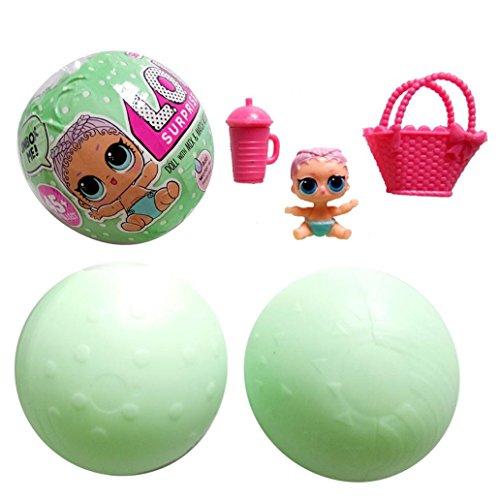 AAA226 Juguete de la bola de huevo de la muñeca de la sorpresa encantadora con el accesorio del partido para los niños   patrón al azar