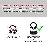 Digitales Wireless Kopfhörer 2.4GHz Übertragungsfrequenz Over Ear Funkkopfhörer mit Ladestation Lautstärkeregler geräuschunterdrückung Stereo Kopfhörer für TV, VCR, HIFI, CD, DVD Spieler (Headphones Only)