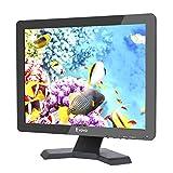 15 Pouces Moniteur Écran TFT LED 4:3 Ultra-mince Moniteur Vidéo HD de Surveillance Résolution 1024x768 Support TV / VGA / USB / HDMI / BNC Télécommande (15' 1024x768 LCD)