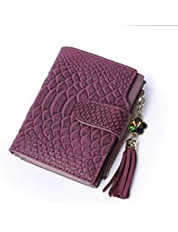 GYwink Portachiavi Monedero con Flecos, con Billetera con Textura de Serpiente Portafoglio di Moda