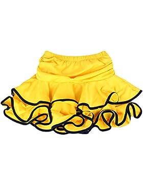 YI NA SHENG WU Falda de baile latino Samba Dancing Dress inside con shorts Mini Falda