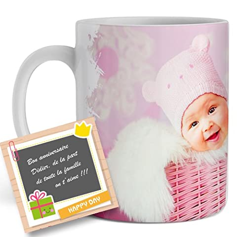 Mug, tasse personnalisé avec votre photo, image, logo - Cadeau original personnalisable