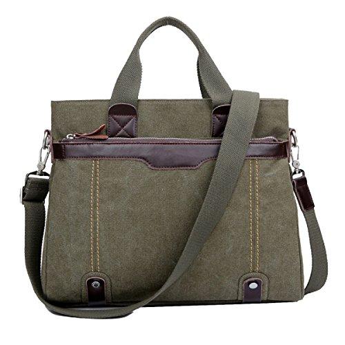 Yy.f Pacchetto Retrò Borsa A Tracolla Di Tela Semplice Moda Selvaggia Sezione Messenger Bag Borsa Di Tela Sacchetto Solido Multicolore Green