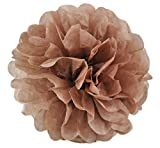 Elfenstall Seidenpapier PomPom für Ihre Hochzeit oder Party als Dekoration in der Farbe braun und Größe Durchmesser 20 cm