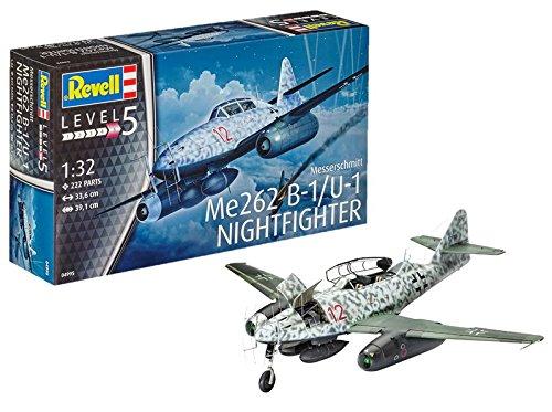 Revell Messerschmitt Me262 B-1/U-1 Nightfighter, Kit de Modelo, Escala 1:32 (4995) (04995), 33,6 cm de Largo