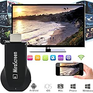 Mirascreen Wi-Fi Affichage AirPlay Dongle Recepteur 1080P Media Player DLAN pour Port HDMI TV pour Android iOS Telephone Portable Tablet PC AH094