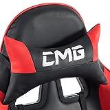 Bürostuhl GAMING Racer Chefsessel Schreibtischstuhl Drehstuhl, höhenverstellbar, verstellbare Armlehnen, Wippmechanik in schwarz/rot - 8