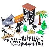 Forweilai Arma Accessori per Lego Minifigures, Scatola di Armi SWAT Giocattolo di Arma Giocattolo Soldato per Bambini