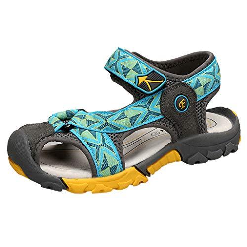 Fenverk Jungen Sandalen, Kinder Jungen Mädchen Sandalette Schuhe Outdoor Sport Sandalen Klettverschluss Sommer Schuhe(Minzgrün,36)